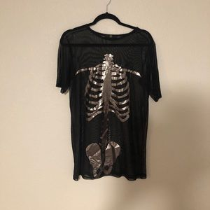 Skeleton mesh top